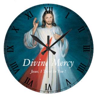 Misericordia divina reloj redondo grande