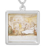 Miseries of Human Life: Introductory Dialogue Square Pendant Necklace