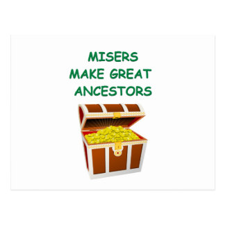 misers post card