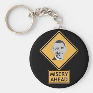 misery ahead basic round button keychain