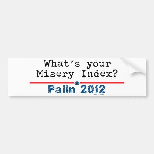 misery index bumper sticker