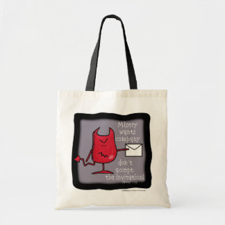 Misery Wants Company-Devil with Envelope Tote Bag