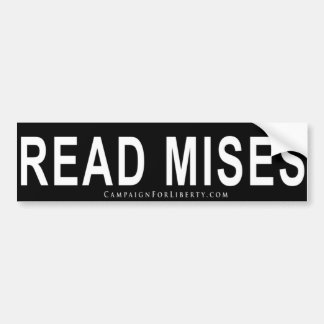 MISES BUMPER STICKER