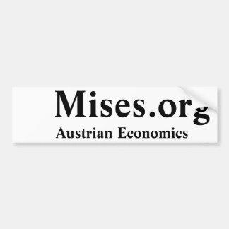 Mises org economía austríaca pegatina de parachoque