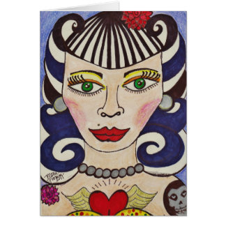 """Misfit Doll"" Card"