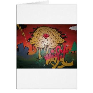 Misfit Graffiti Card