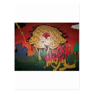 Misfit Graffiti Postcard