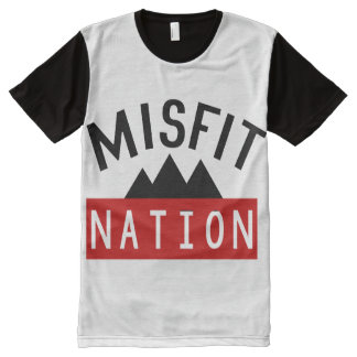 Misfit (Misfit Nation) All-Over Printed Panel Tee All-Over Print T-shirt