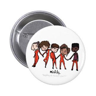 Misfits Cast Pinback Button