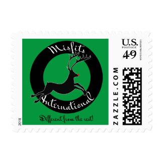 Misfits International custom postage