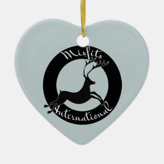 Misfits International heart ornament