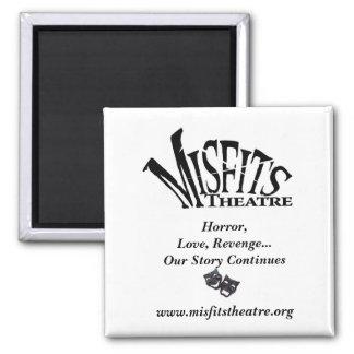 Misfits_theatre_-_JPEG_, comdey tragedy black, ... 2 Inch Square Magnet