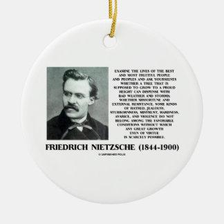 Misfortune Favorable Conditions Growth Nietzsche Ceramic Ornament