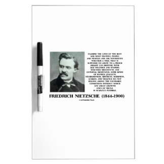 Misfortune Favorable Conditions Growth Nietzsche Dry-Erase Board