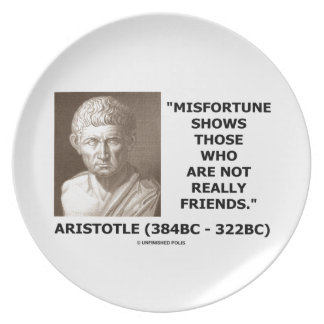 Misfortune Shows Who Are Not Really Friends Quote Dinner Plate