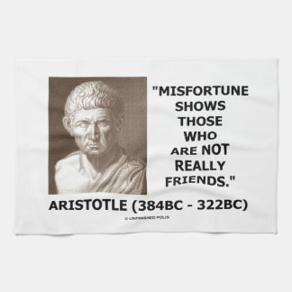 Misfortune Shows Who Are Not Really Friends Quote Kitchen Towel