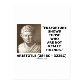 Misfortune Shows Who Are Not Really Friends Quote Post Card