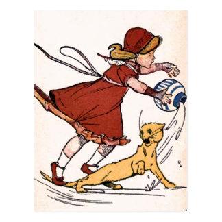 """Misfortunes never come Singly"" Vintage Postcard"