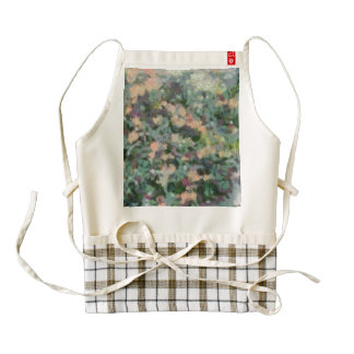 Mish mash of colors zazzle HEART apron