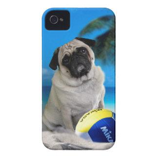 Misha Pug at the Beach iPhone 4 Cover