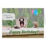 Misha - tarjeta de cumpleaños del puma