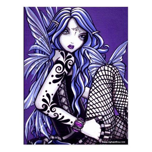 Misha tatuó fantasía del Faery de la mariposa Postales