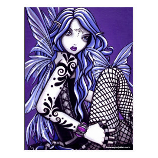 Misha tatuó fantasía del Faery de la mariposa Tarjetas Postales