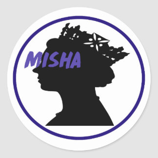 Misha & the Queen Classic Round Sticker