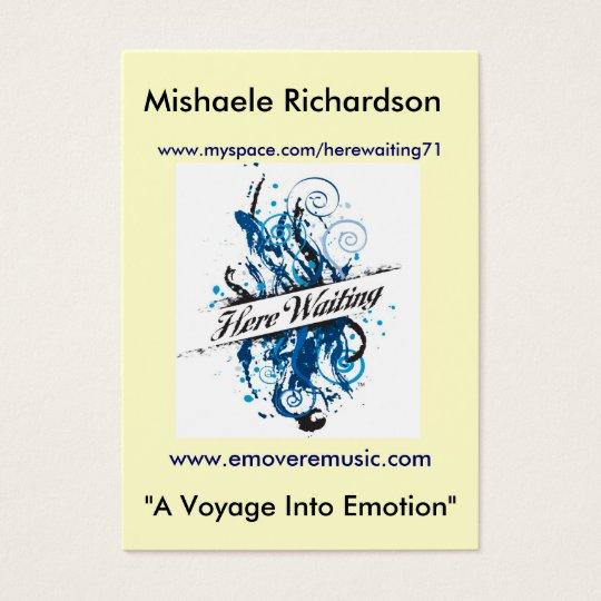 """Mishaele Richardson, """"A Voyage... Business Card"""