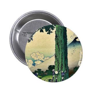 Mishima Pass in Kai Province,by Katsushika,Hokusai Pinback Button