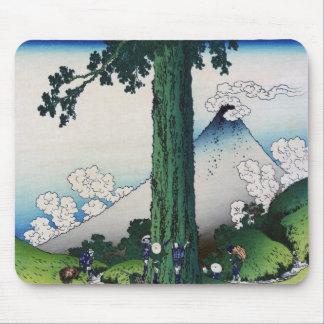 Mishima Pass in Kai Province, Hokusai Mouse Pad