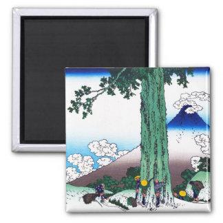 Mishima pass in Kai province Katsushika Hokusai 2 Inch Square Magnet