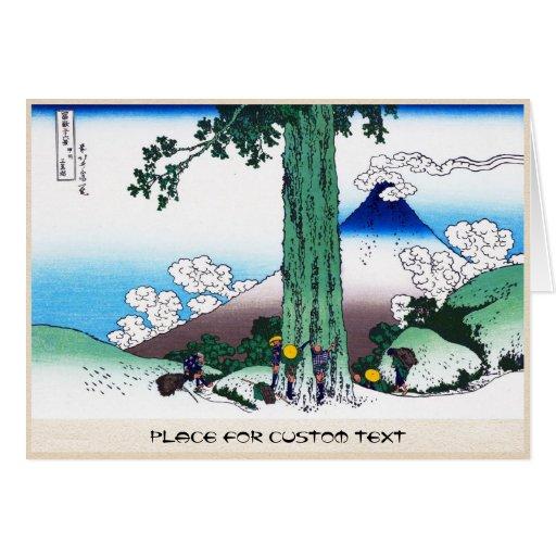 Mishima pass in Kai province Katsushika Hokusai Greeting Cards