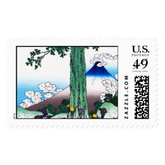 Mishima pass in Kai province Katsushika Hokusai Postage