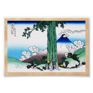Mishima pass in Kai province Katsushika Hokusai Poster