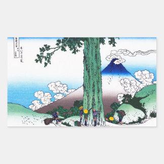 Mishima pass in Kai province Katsushika Hokusai Rectangular Sticker