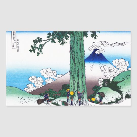 Mishima pass in Kai province Katsushika Hokusai Rectangular Sticker