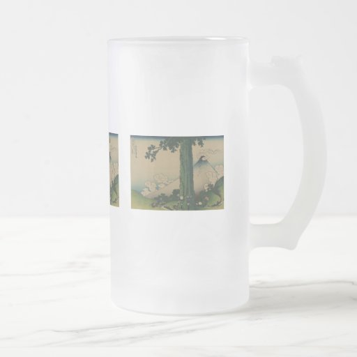 Mishima Pass in Kai Province 16 Oz Frosted Glass Beer Mug