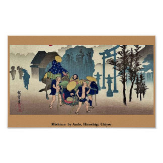 Mishima por Ando, Hiroshige Ukiyoe Posters