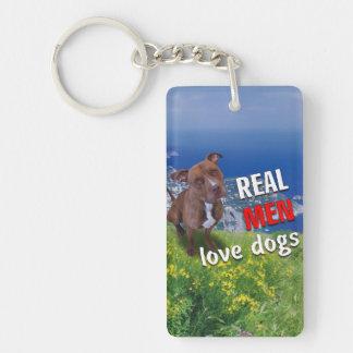 Mishka Dog Single-Sided Rectangular Acrylic Keychain