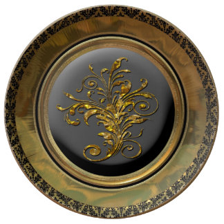 Mishka Ebony Victorian Party Plate Porcelain Plates