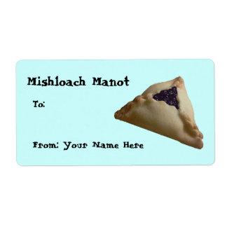 Mishloach Manot… Etiquetas De Envío