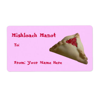 Mishloach Manot… Etiqueta De Envío