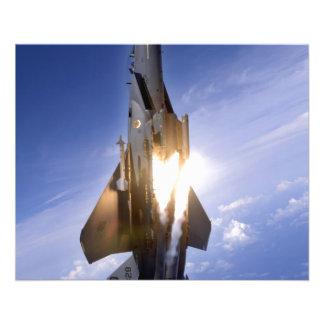 misil de lanzamiento del jet f-15 folleto 11,4 x 14,2 cm