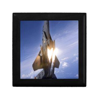 misil de lanzamiento del jet f-15 caja de regalo cuadrada pequeña