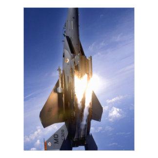 misil de lanzamiento del jet f-15 membrete