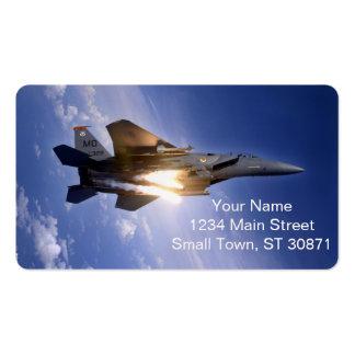 misil de lanzamiento del jet f-15 tarjetas de visita