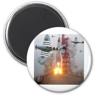 ¡Misil del ataque de bombarderos de zambullida! Imán Redondo 5 Cm