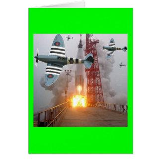 ¡Misil del ataque de bombarderos de zambullida! Tarjeta De Felicitación