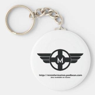 Misinformation Matt Butler Design Keychains